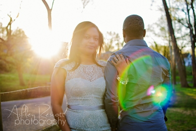 couple with sun flare