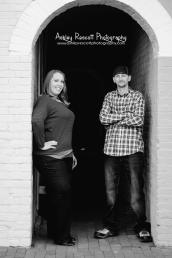 Couple standing in doorway