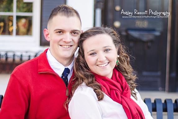 christmas card couple, fredericksburg va photographer
