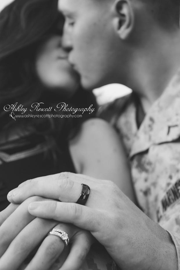 marine engagement photo, wedding band, fredericksburg va photographer