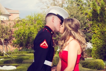 us marine and wife in gown, quantico photographer