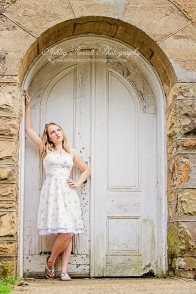 girl in white dress in doorway, fredericksburg va photographer