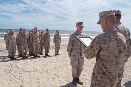 Reenlistment ceremony on the beach, quantico photographer