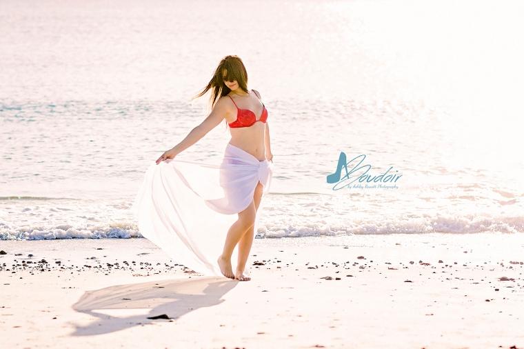 woman in white skirt on beach