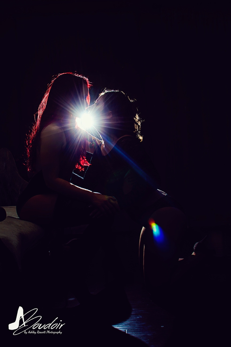 two women silhouetted