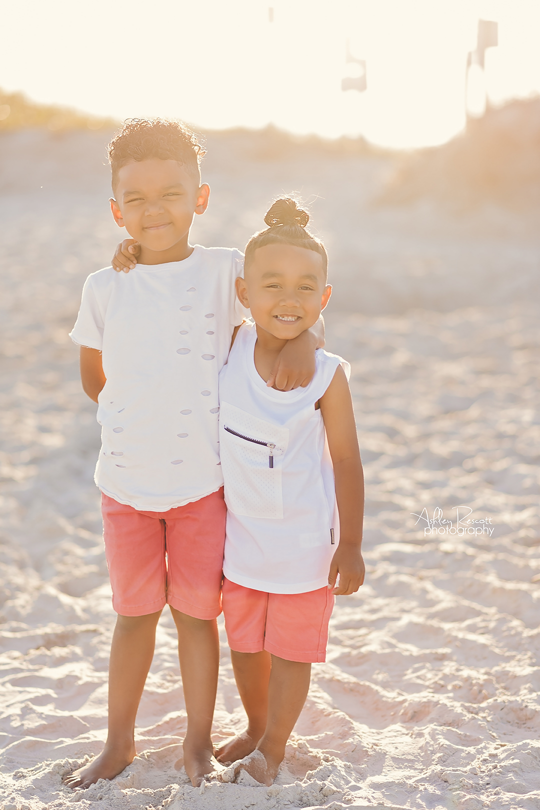 brothers at the beach