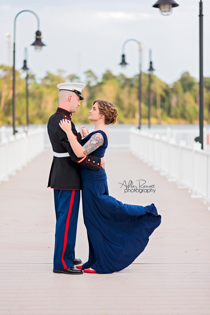 military ball portrait
