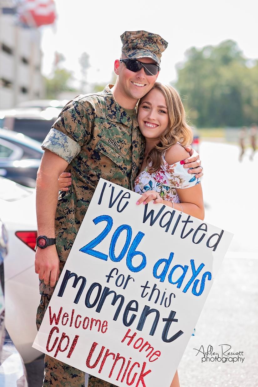 marine homecoming sign