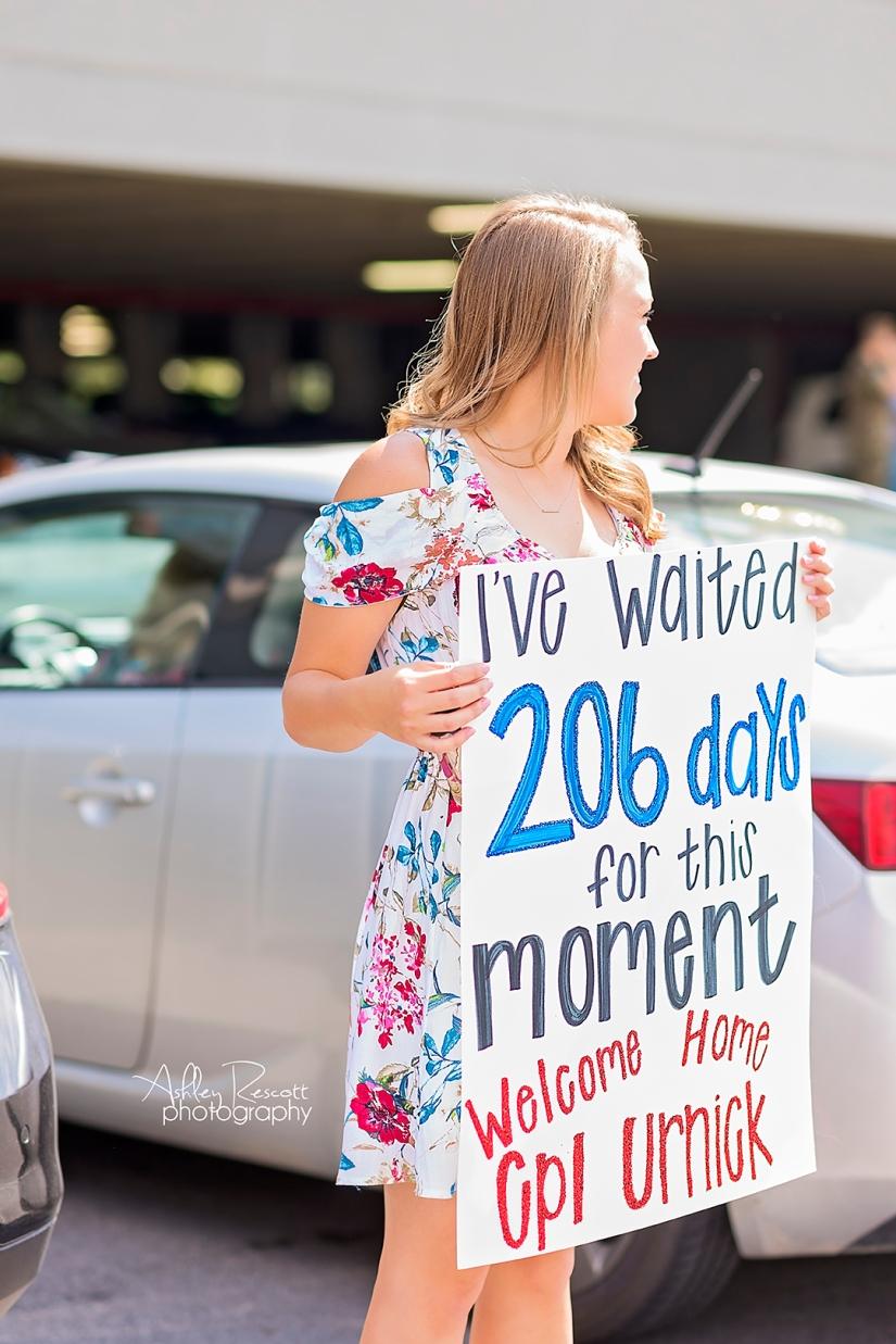 marine wife waiting for her husband to return