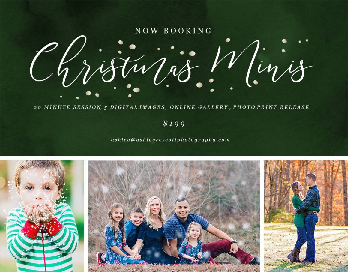 christmas mini sessions in jacksonville nc
