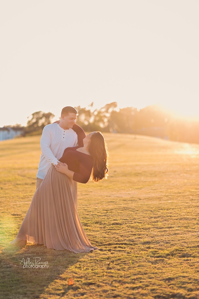 couple portrait at sunset