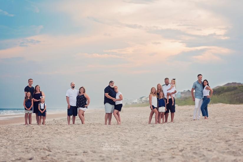Big family on beach