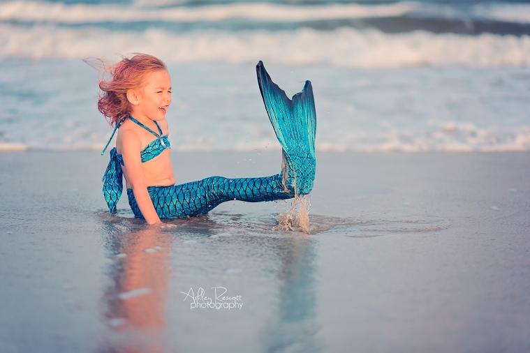 mermaid at the beach