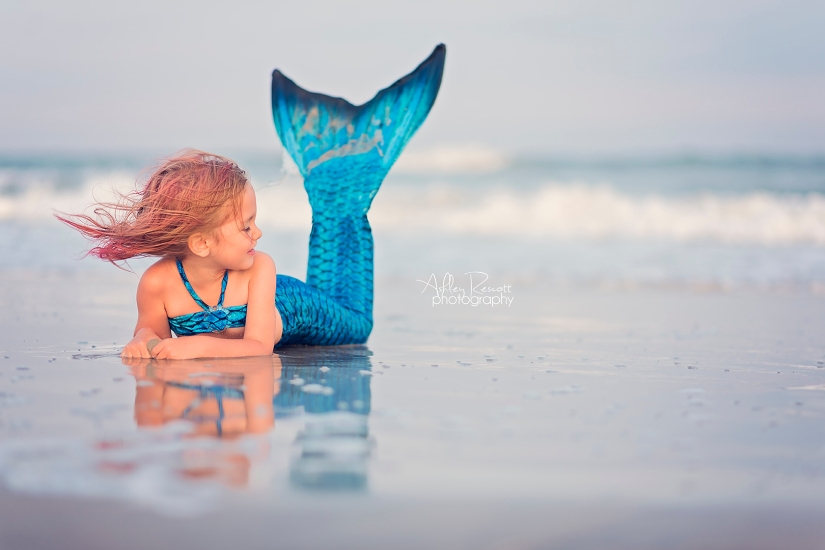 mermaid at the beach