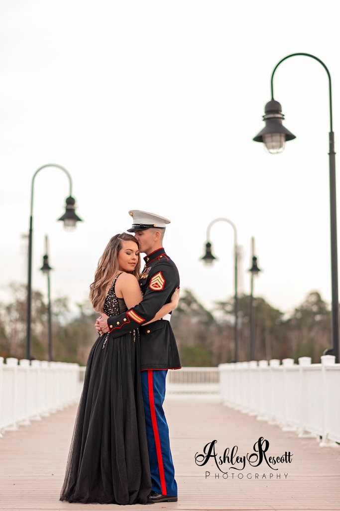 US Marine with Wife on pier